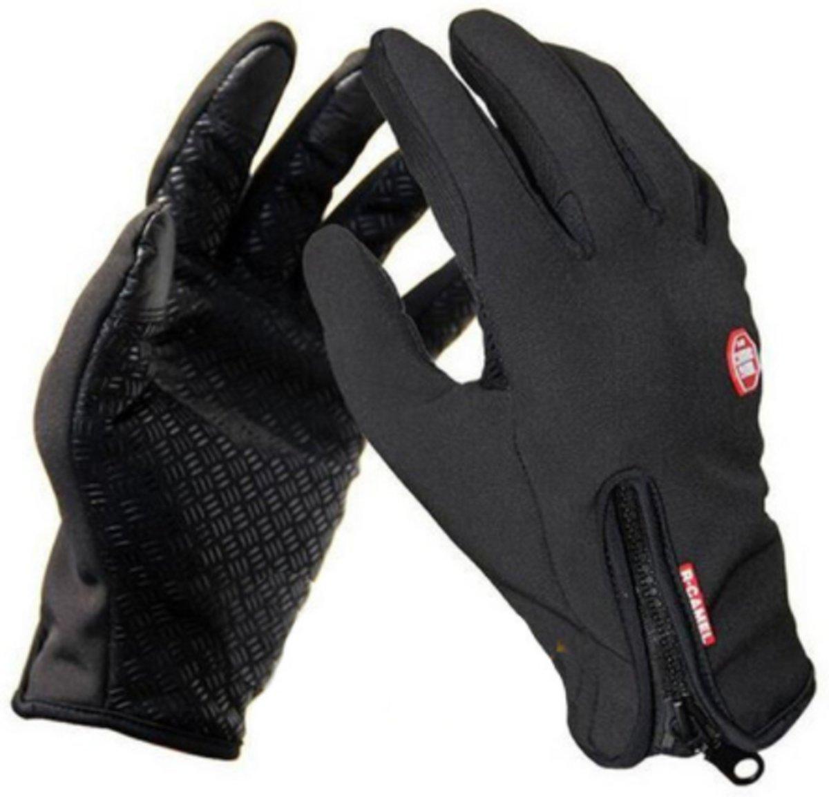 Handschoenen L - Wintersport - Schaatsen - Snowboarden - Skiën - Wielrennen - Uniseks - Zwart -Large