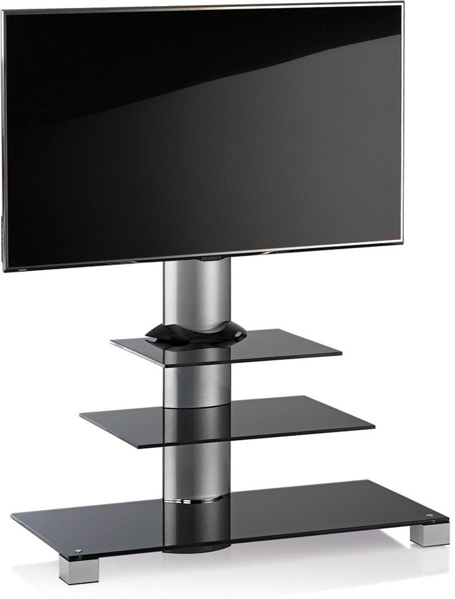 TV meubel TV standaard Amalo maxi draaibaar verrijdbaar (zilver/zwart)