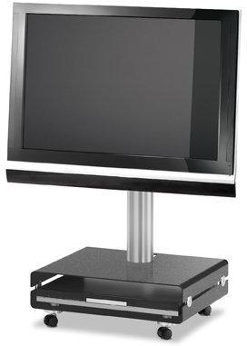 Spectral Floor QX208 (zwart metallic) verrijdbare tv standaard voor 32