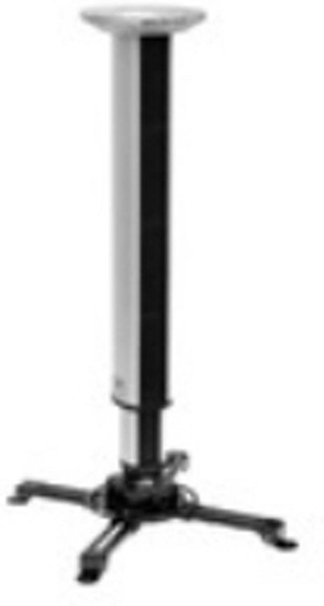 Cavus RVS vloerstandaard met zwarte voet voor schermen tot 32 inch - 120 cm hoog