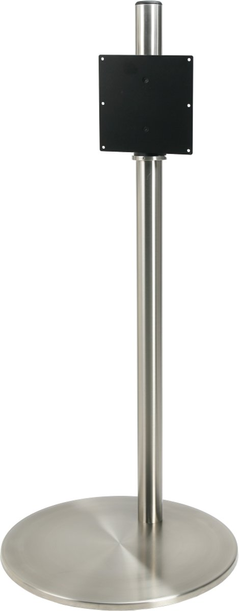 Cavus RVS vloerstandaard met RVS voet voor TV's tot 55 inch - 100 cm hoog