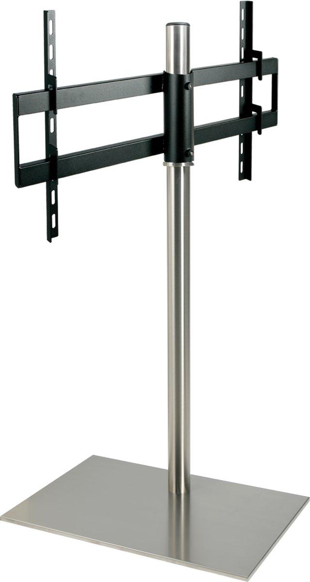 Cavus RVS vloerstandaard met RVS voet voor TV's tot 55 inch - 120 cm hoog