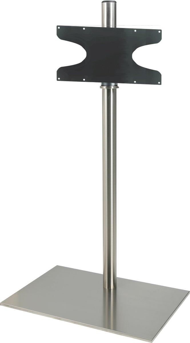 Cavus RVS vloerstandaard met RVS voet voor TV's tot 55 inch - 150 cm hoog