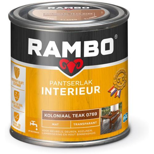Rambo pantserlak interieur transparant mat koloniaal teak 250ml