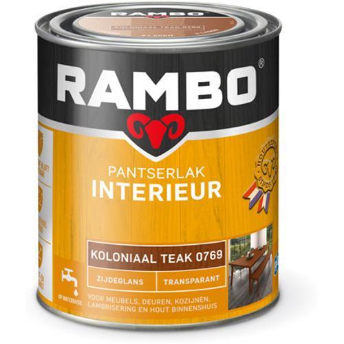 Rambo pantserlak interieur transparant zijdeglans koloniaal teak 750ml