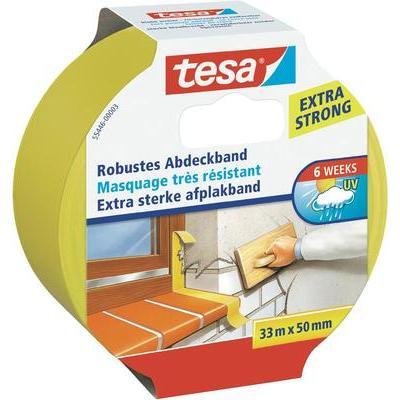 TESA 55446 tesa stevige afplaktape (l x b) 33 m x 50 mm Geel Inhoud: 1 rollen