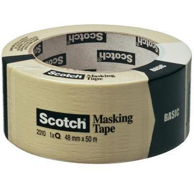 3M 20104850 Scotch Basic afplaktape (l x b) 50 m x 48 mm Beige Inhoud: 1 rollen