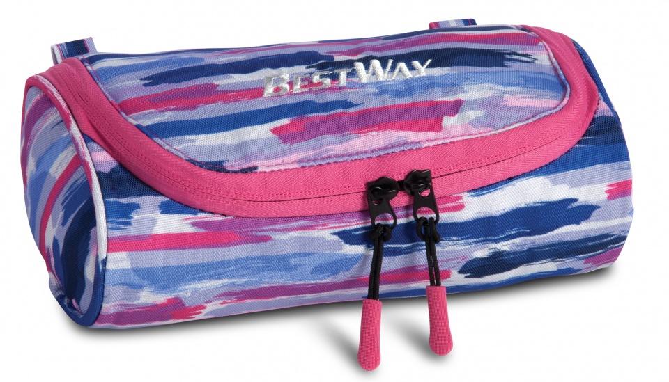 Bestway etui blauw/roze 22 x 11 x 7 cm