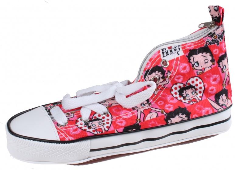 Kamparo etui Betty Boop sneaker 24 cm rood/wit