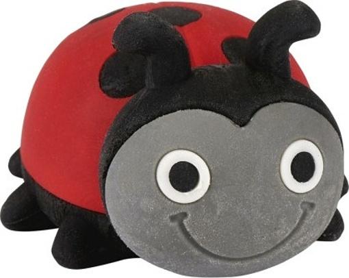 Moses gum Krabbelk?fer lieveheersbeestje 3 cm rood/zwart