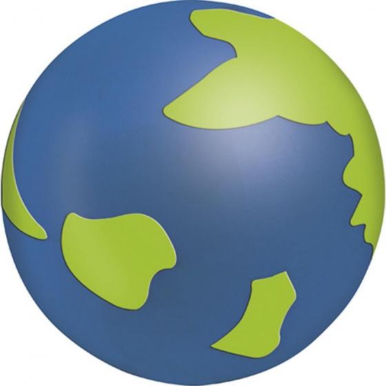 Moses gum Wereldbol 4 cm blauw/groen