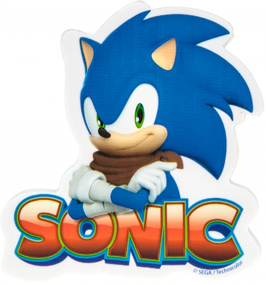 Kamparo gum Sonic Boom Jumbo 8 cm blauw