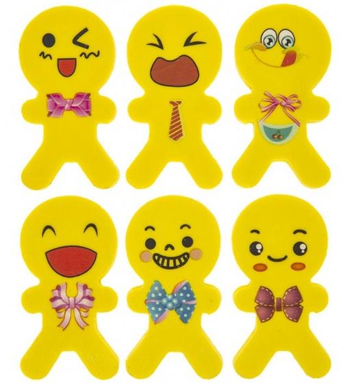 PMS gummen smiley poppetjes geel 5 cm 6 stuks