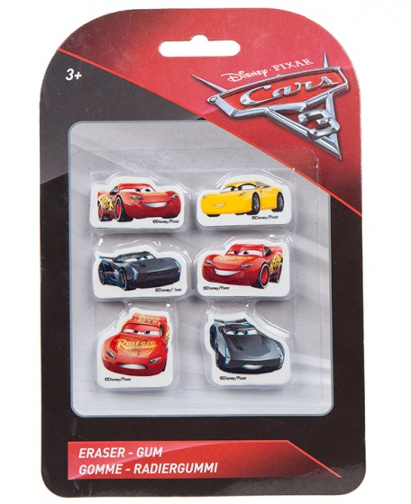 Disney Cars 3 gummenset 6 delig 4 cm