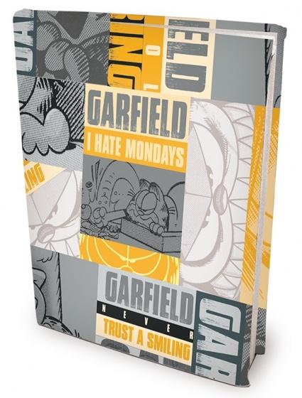 Dresz elastische boekenkaft A4 grijs/geel Garfield
