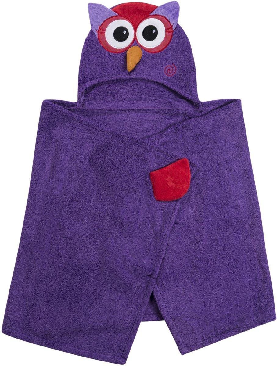 Zoocchini kids badcape 100% katoen - Olive the Owl
