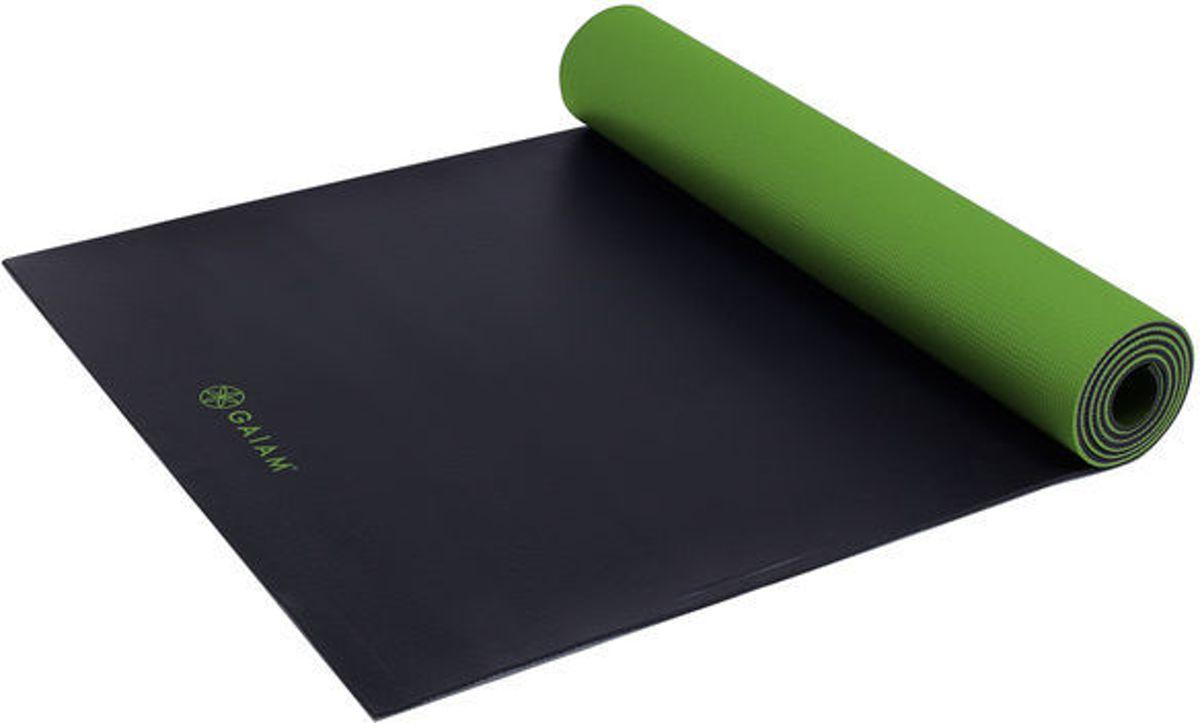 Gaiam Athletic Fitness- / Yogamat - 5 mm - Groen / Zwart