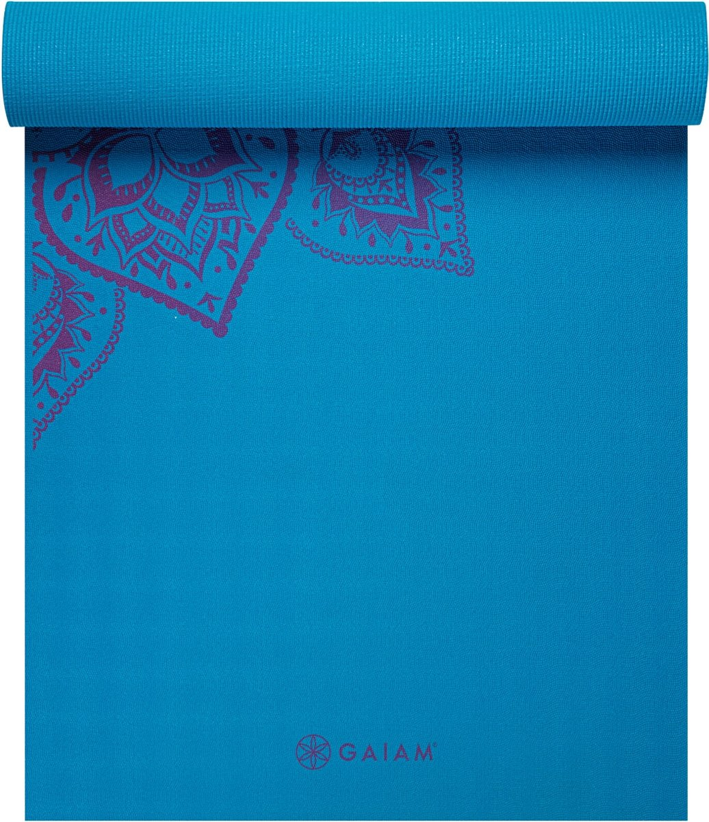 Gaiam Studio Select Mandala Sticky-grip - Yogamat - 5mm - Blauw