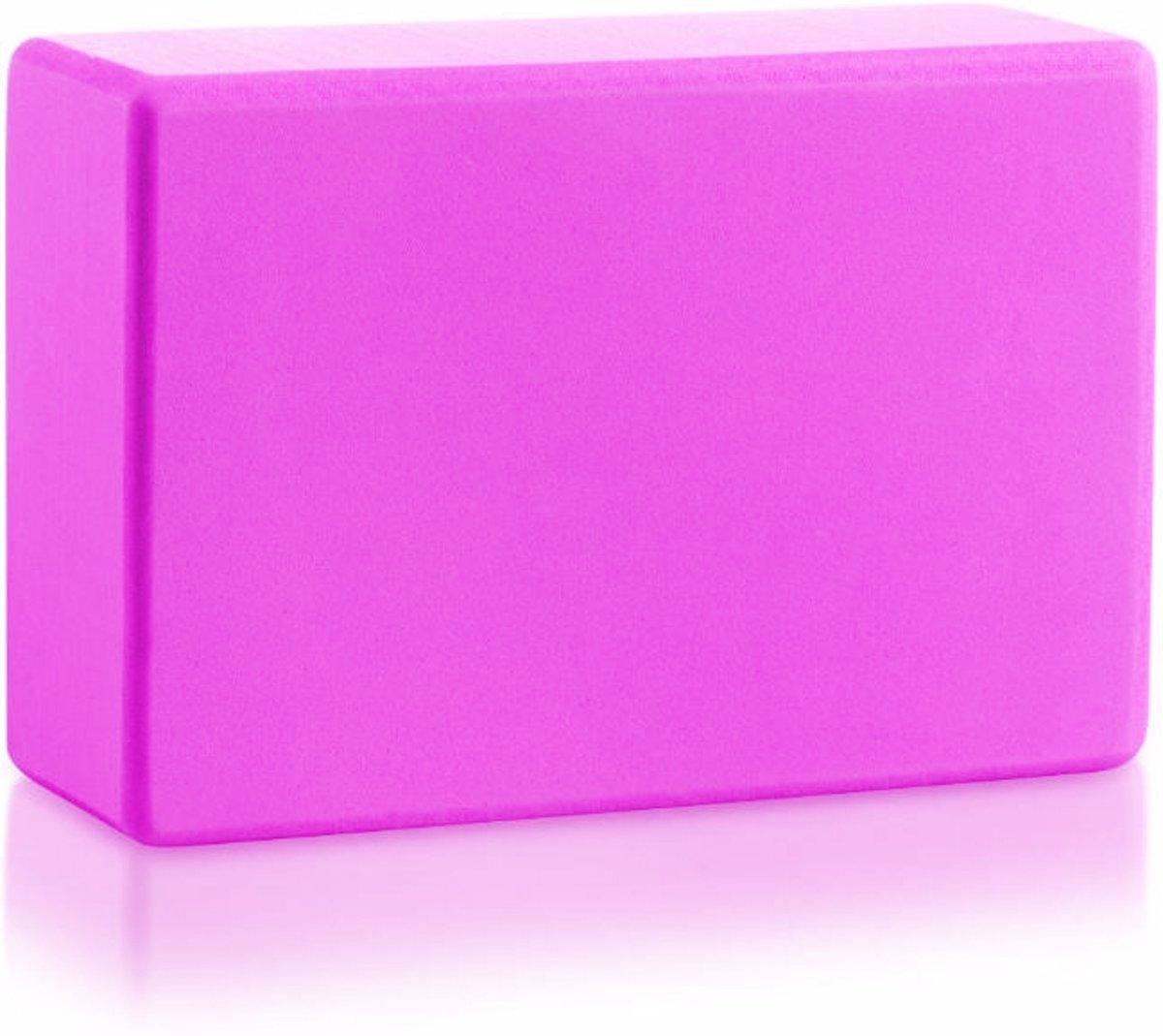 JAP Yoga blok - Foam [Pro Series] - Verbetert kracht balans en flexibiliteit - 23x15x8cm - 200g - Roze