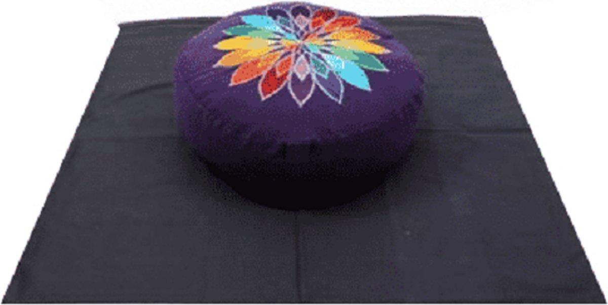 Meditatie Set Violet veelkleurige Bloem op Zwart