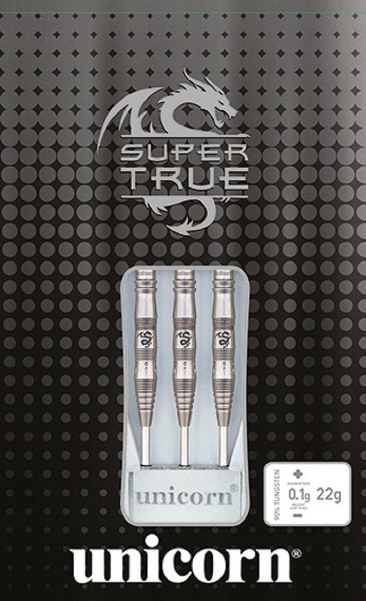Unicorn Dartpijlen Super True Steeltip 90% Zwart Gewicht 22