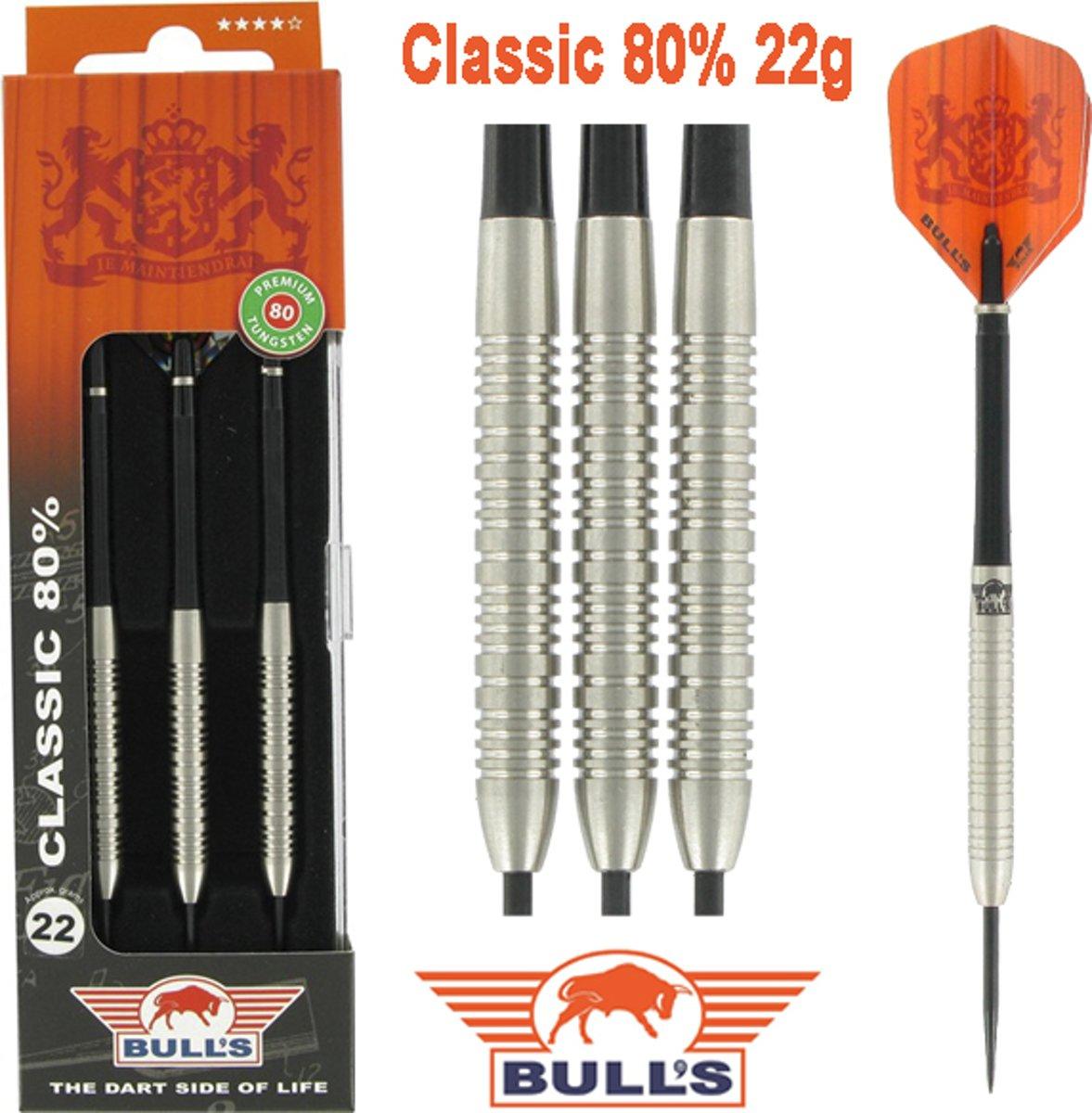 Bull's Classic 80% 22 gram Steeltip Dartpijlen