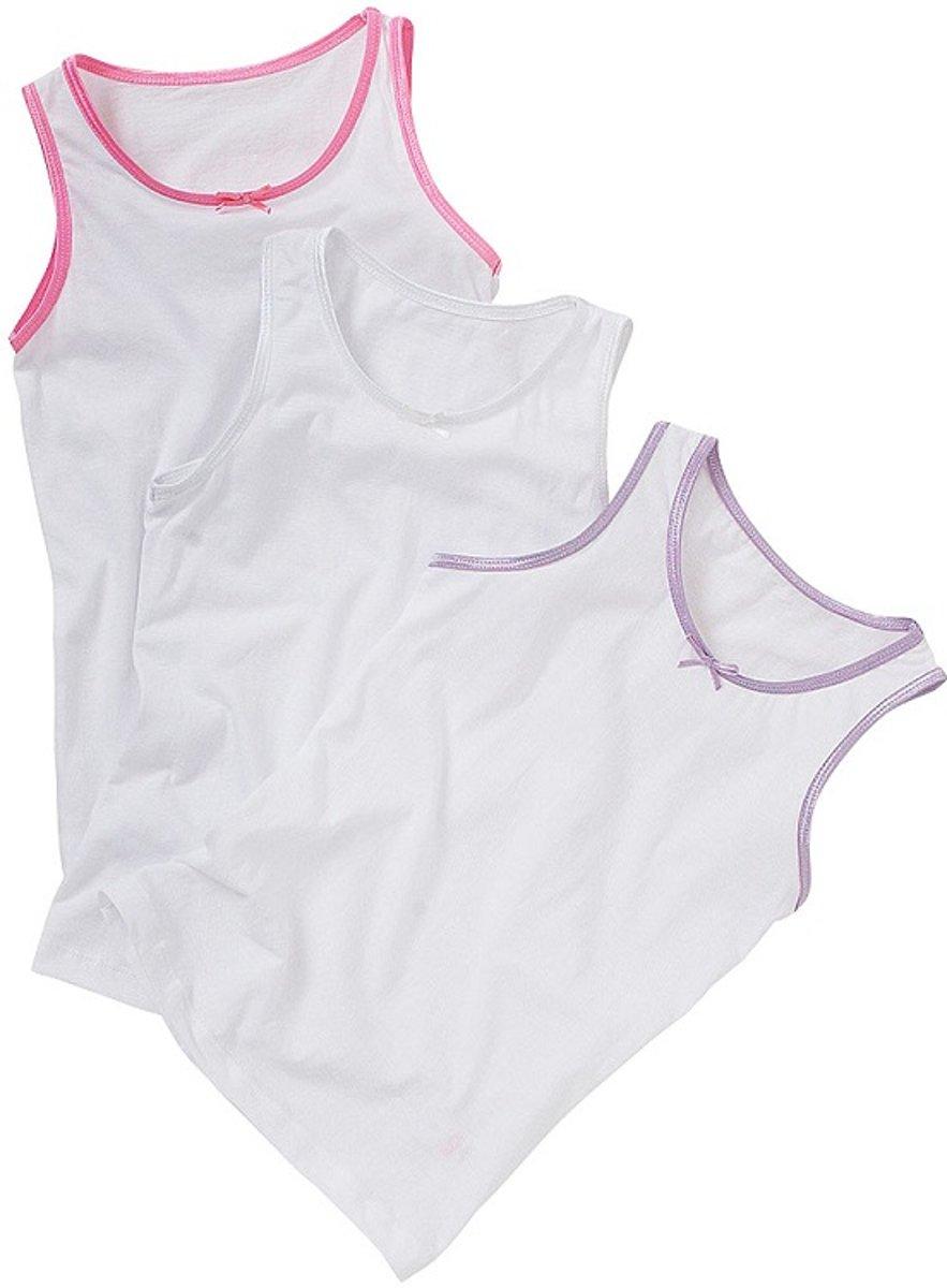 JUST ESSENTIALS - 3 stuks Meisjes Hemden (2-3 jaar, maat 92/98) 100% katoen