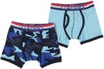 Claesen's Jongens 2-pack Boxershort  - Lt.Blue/Army - Maat 128-134