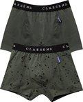 Claesen's Jongens 2-pack Boxershort  - Spots Green - Maat 128-134