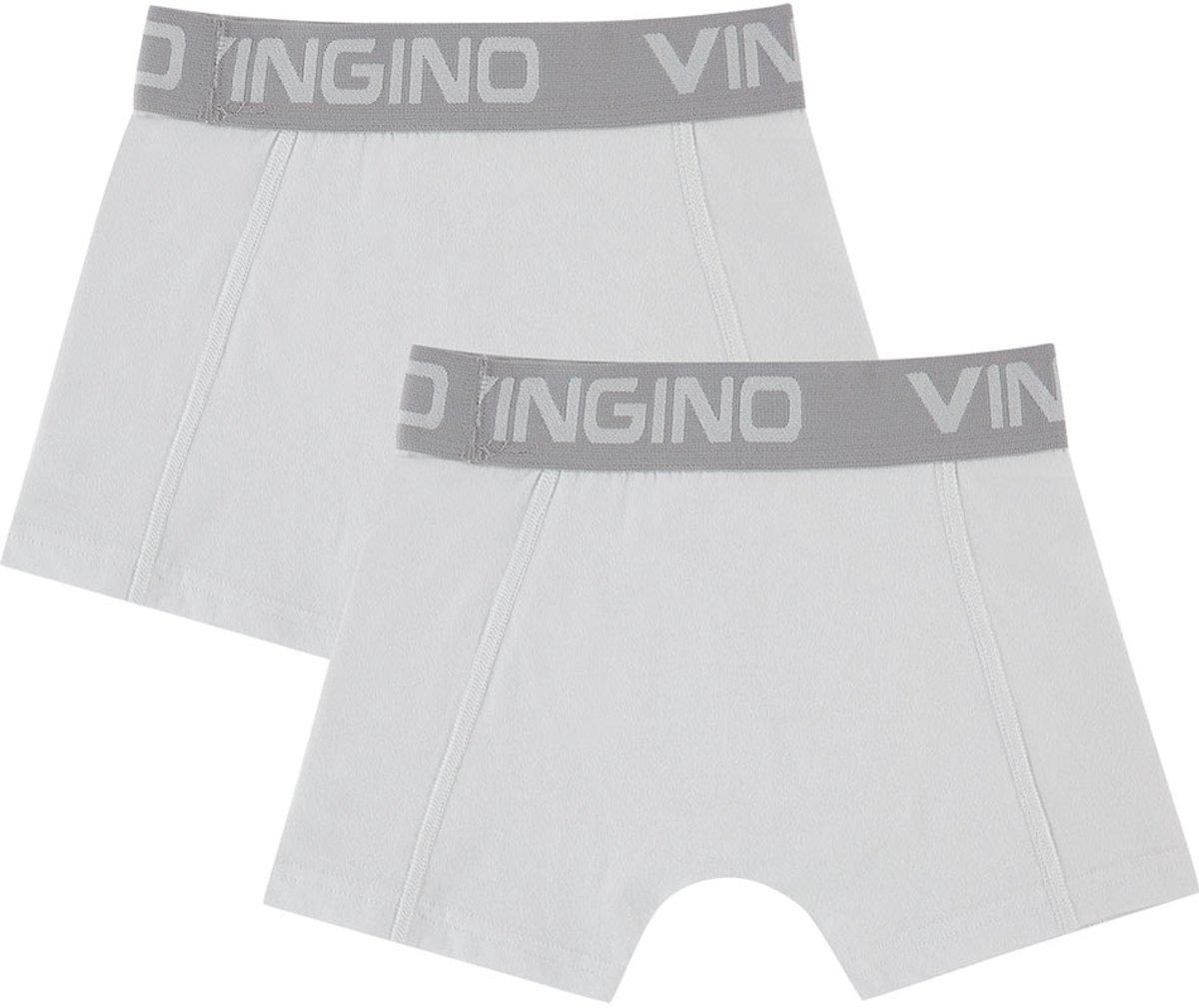 Vingino Jongens Boxershort 2-pack - Real White - Maat 176