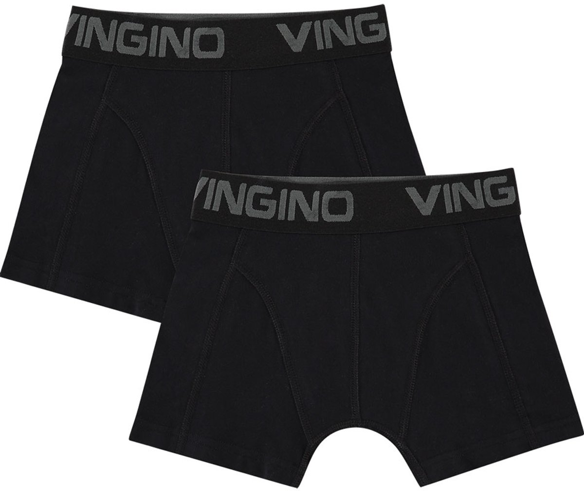 Vingino Jongens Boxershort 2-pack - Black - Maat 128