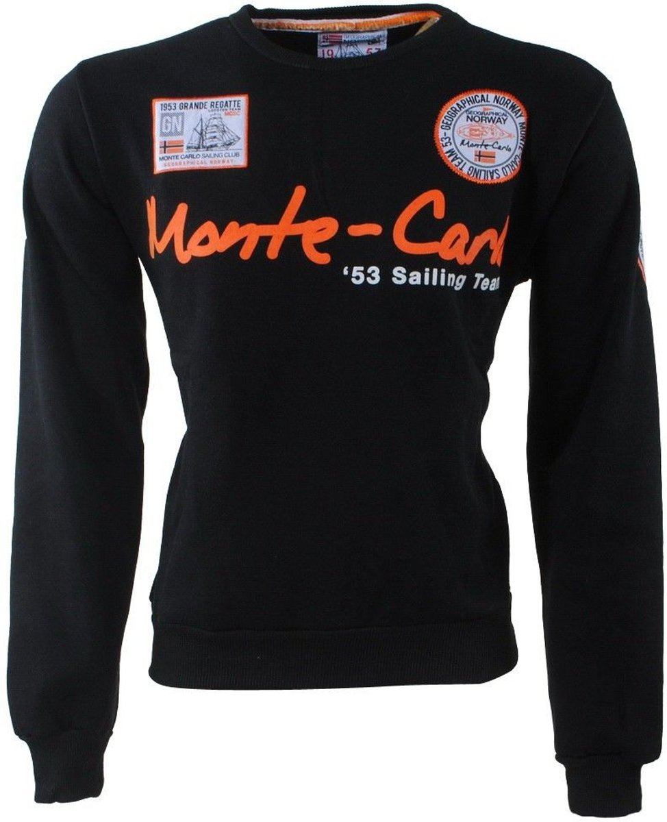 Geographical Norway - Heren Sweater - Monte Carlo - Ronde Hals - Folo - Zwart