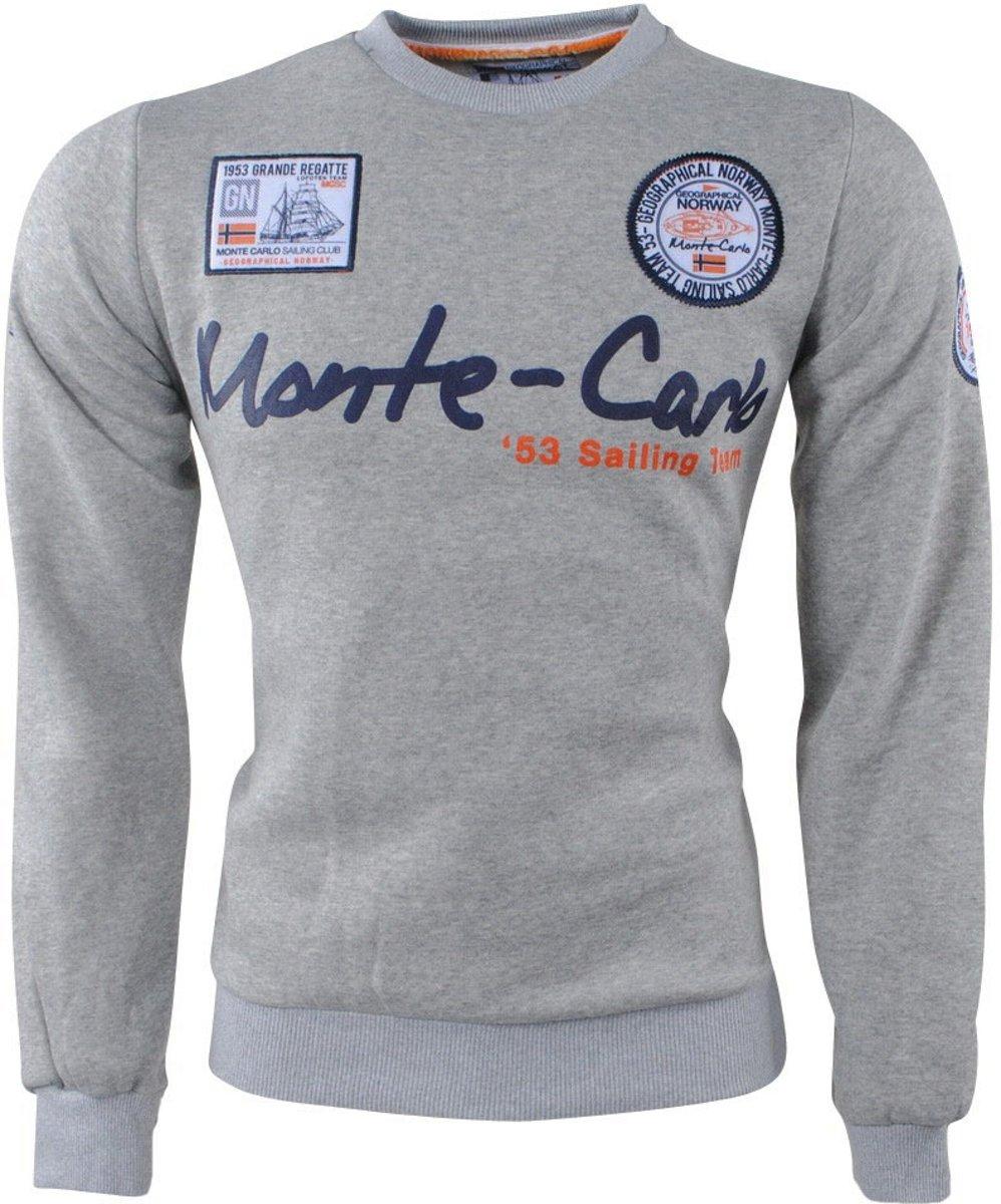 Geographical Norway - Heren Sweater - Monte Carlo - Ronde Hals - Folo - Grijs