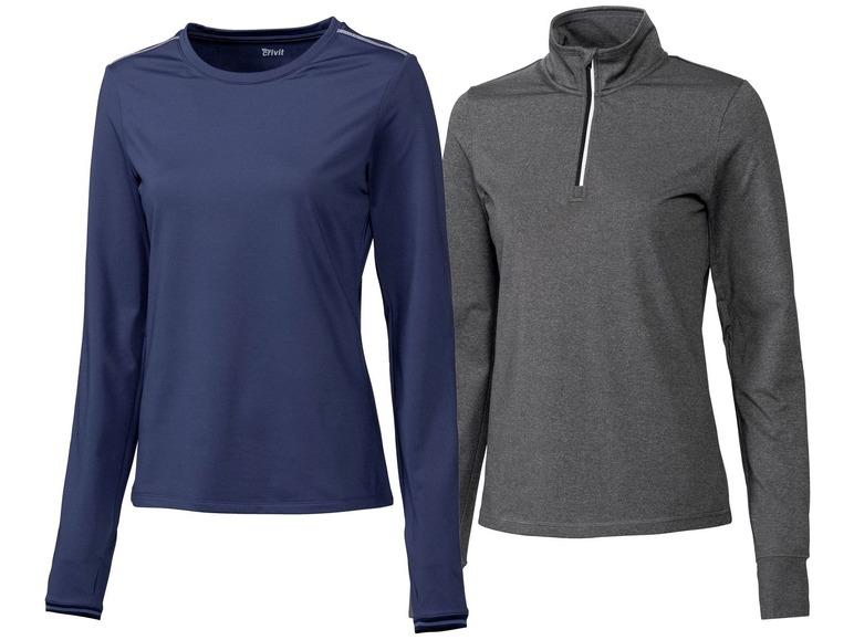 2 dames hardloopshirts M (40/42), Blauw/grijs