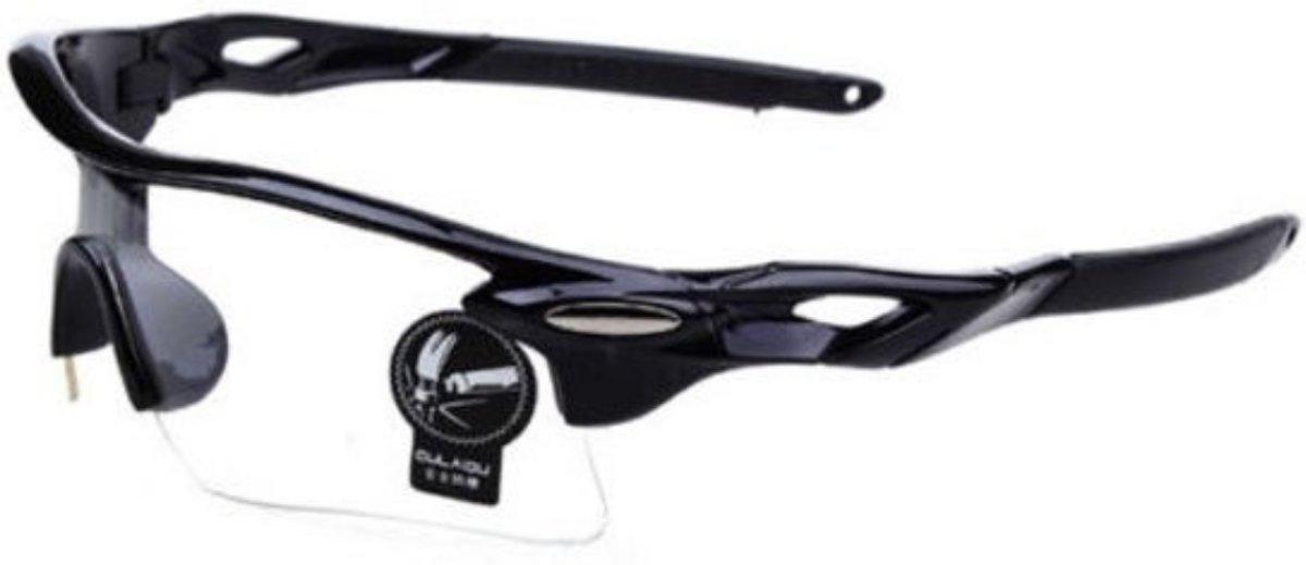 Wielren - Schaats - Ski & Snowboard Bril - Volwassenen - Fietsbril -  Transparant - Doorzichtig