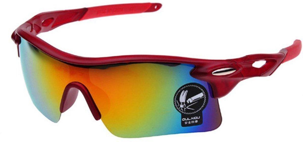 fietsbril/ sportbril UV400 outdoor (kleur rood)