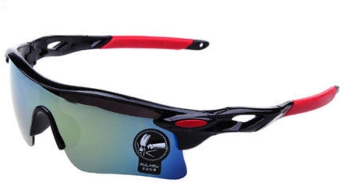 fietsbril/ sportbril UV 400 Outdoor (Rood-zwart)