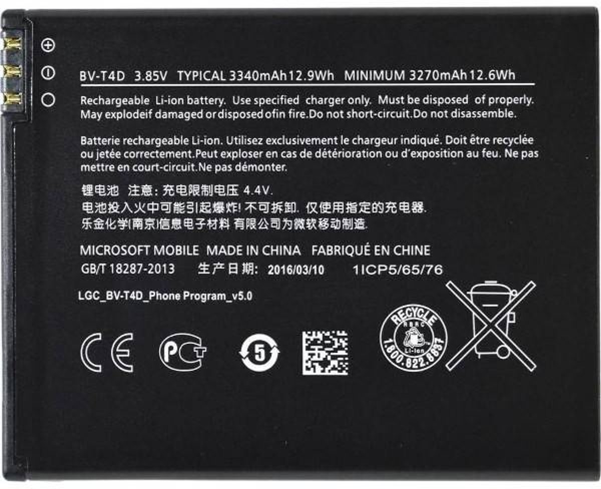 Microsoft / Nokia BV-T4D Lumia 950 XL Originele Batterij / Accu