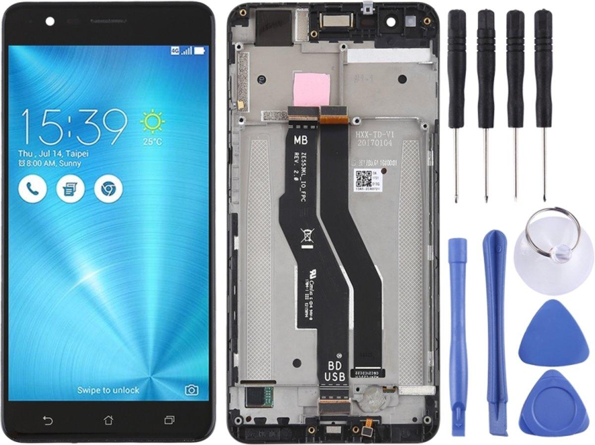 LCD-scherm en Digitizer met Frame voor Asus Zenfone 3 Zoom ZE553KL(Black)