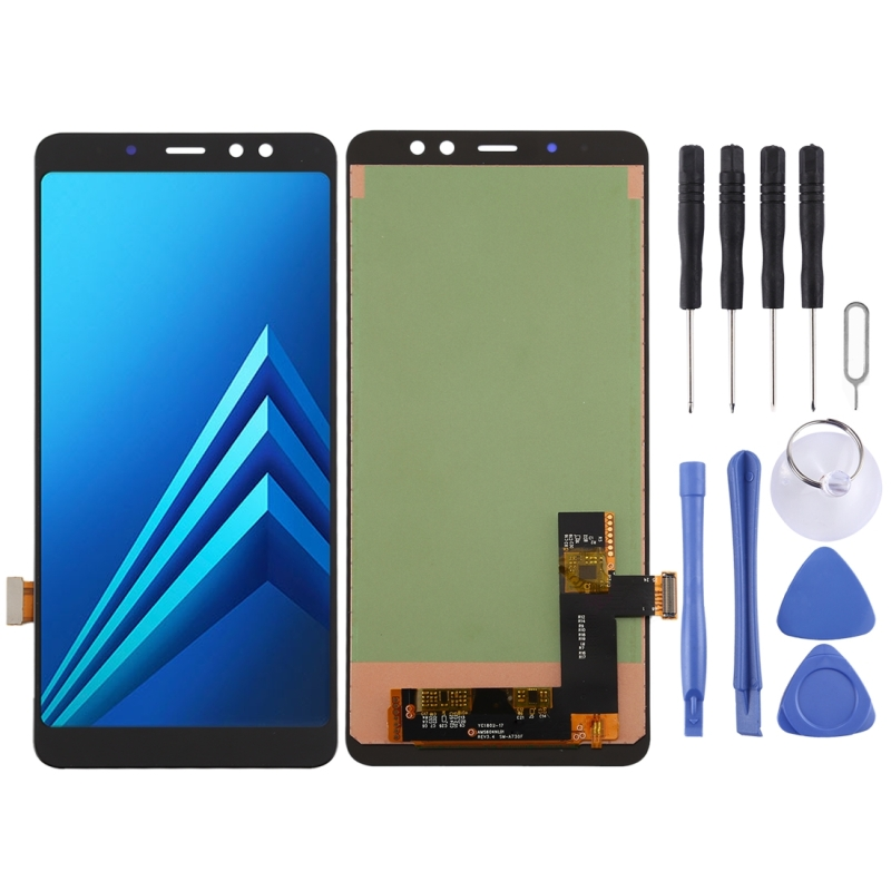 incell LCD-scherm en digitizer volledige assemblage voor Galaxy A8 PLUS (2018) SM-A730F (zwart)