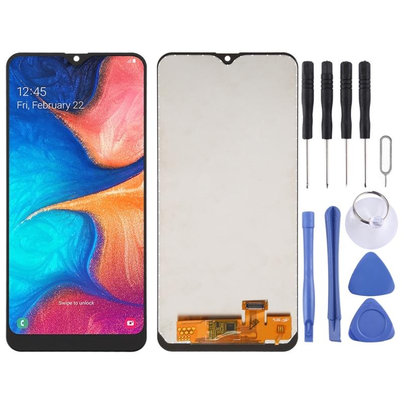 incell LCD-scherm en digitizer volledige assemblage voor de Galaxy A20 A205F/DS A205FN/DS A205U A205GN/DS A205YN A205G/DS A205W (zwart)
