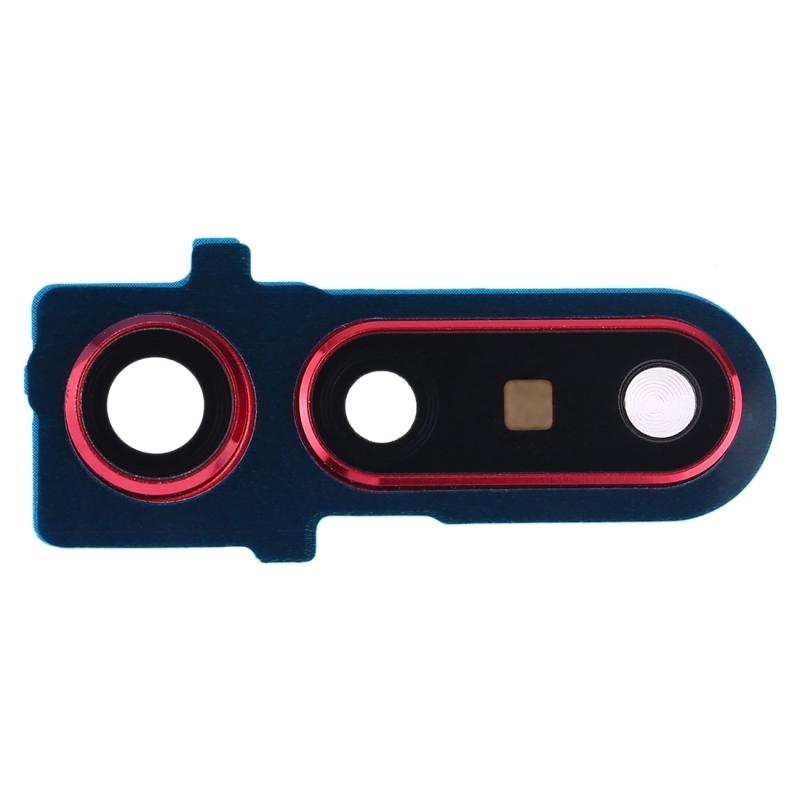 Achterzijde camera bezel met lens cover voor Huawei Honor weergave 20 (rood)