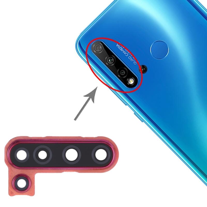Camera lens cover voor Huawei Nova 5i (rood)
