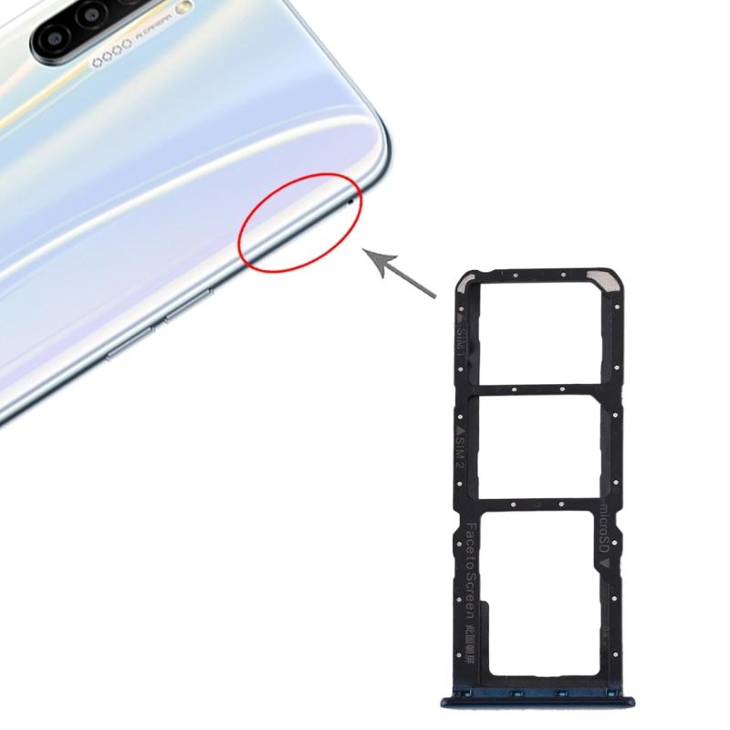 SIM-kaartlade + SIM-kaartlade + Micro SD-kaartlade voor OPPO Realme X2 (Blauw)