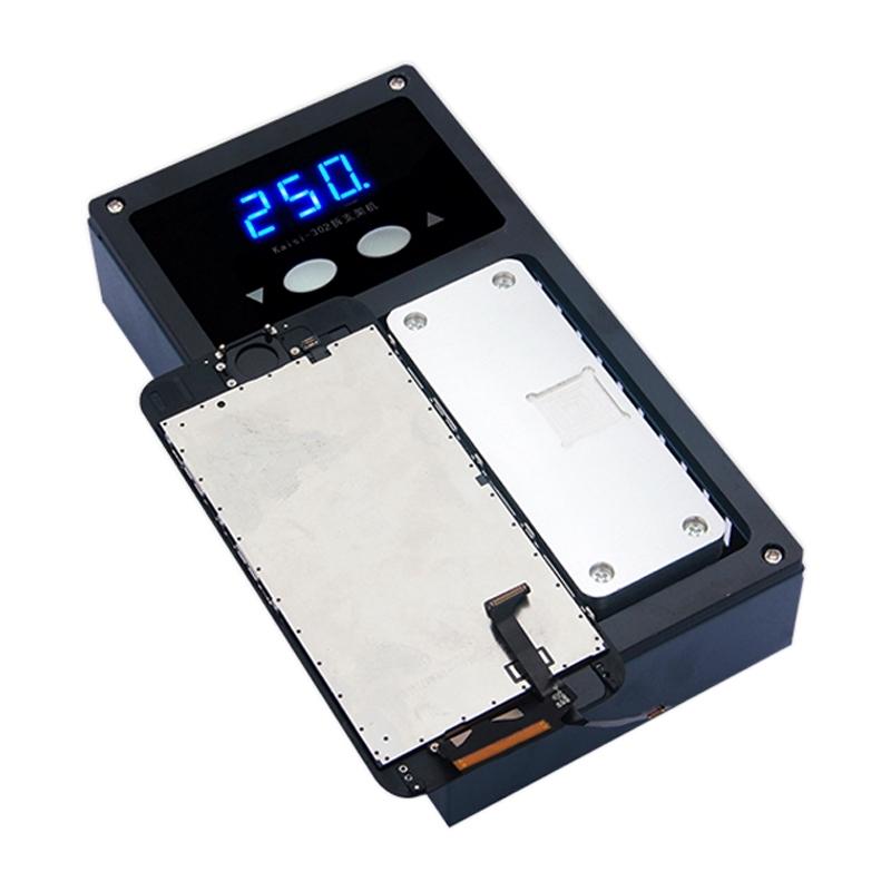 K-302 mobiele telefoon LCD Frame beugel Remover ontmantelen Machine verwarming Platform Upgrade-versie Input: 220V AC 100W AU Plug