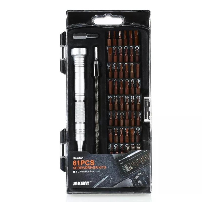 JAKEMY JM-8166 61 in 1 schroevendraaier kits reparatie hand gereedschap Kit
