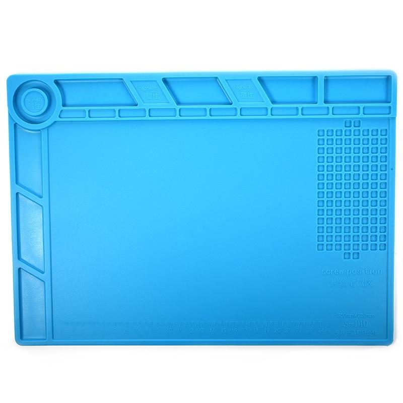 BEST-S-140 hittebestendig BGA solderen Station siliconen warmte Gun isolatie Pad reparatie Tools onderhoud Platform Bureau Mat(Blue)