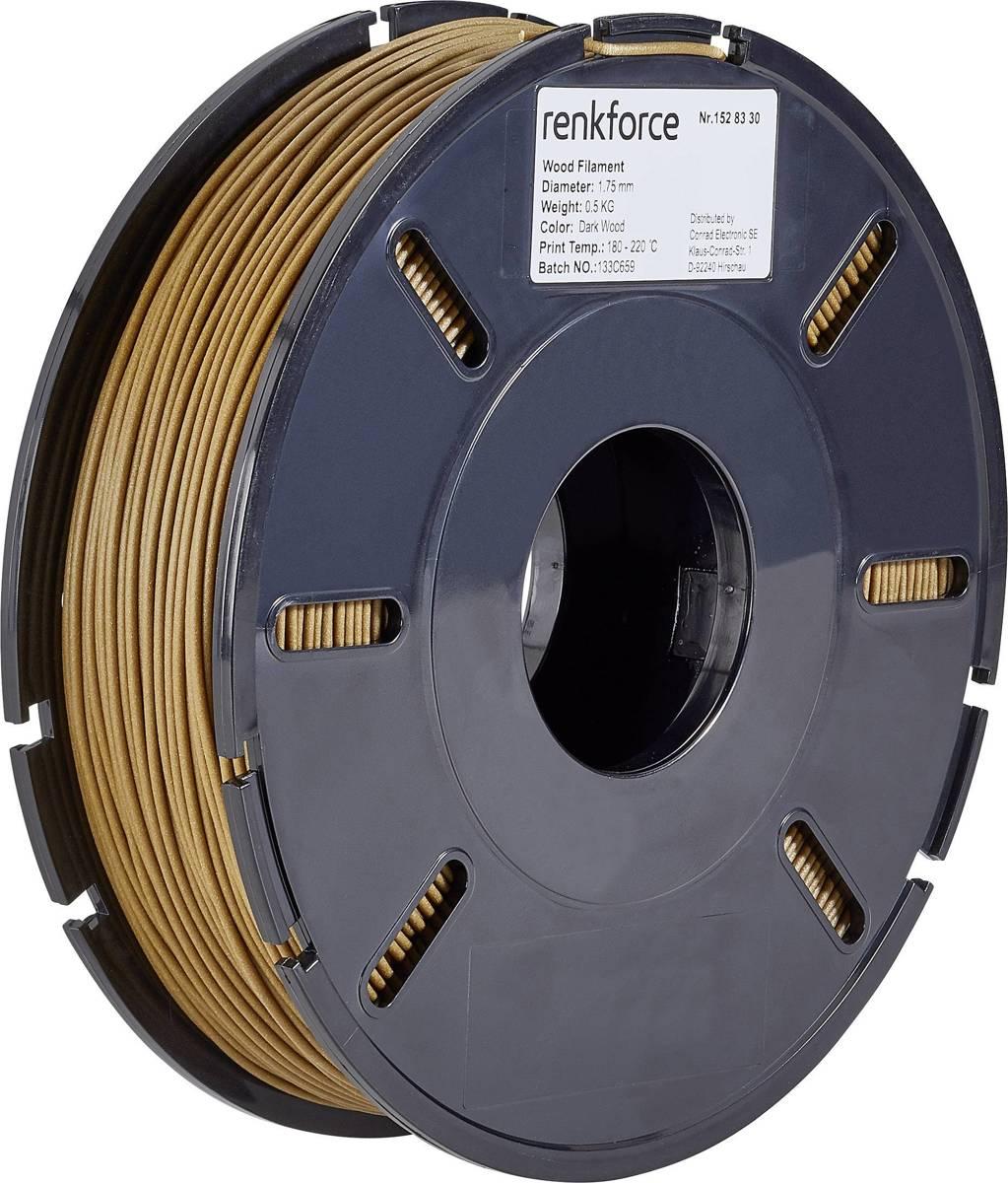 Filament Renkforce PLA compound 1.75 mm Hout 500 g
