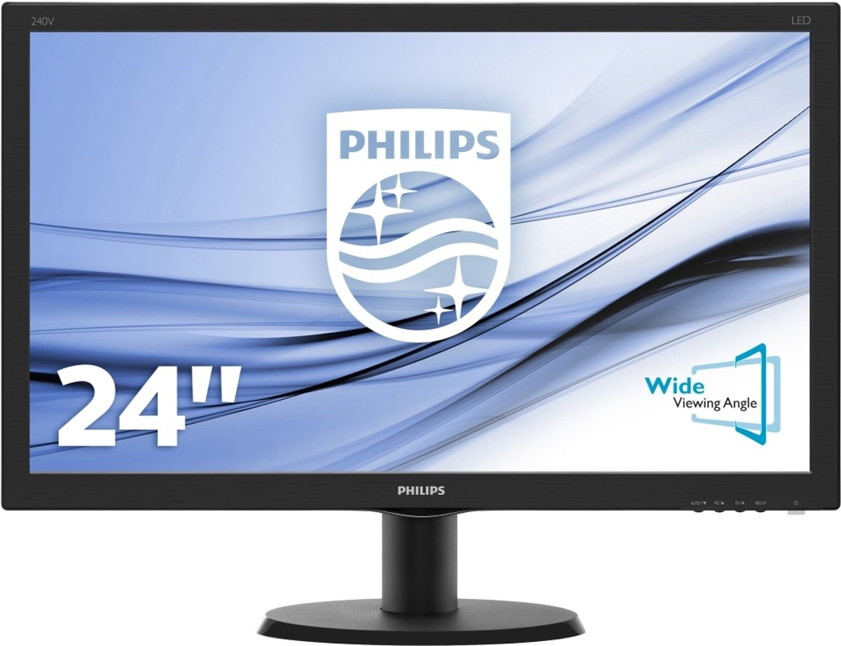 Philips V Line LCD-monitor met SmartControl Lite 240V5QDAB/00