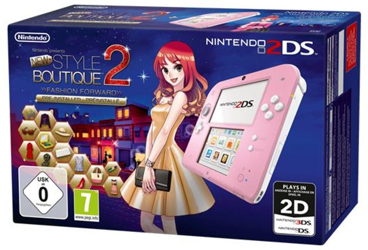 Nintendo 2DS Roze Wit Style Boutique 2 (voorgeinstalleerd)